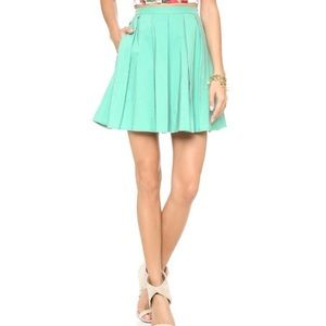 Blaque Label Mint Teacup Pleated Skirt